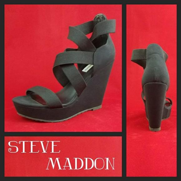fb0a7fee8cf Like New Steve Madden Valine Wedges Sz 8.5. M 5b08d41650687c1800177a7f